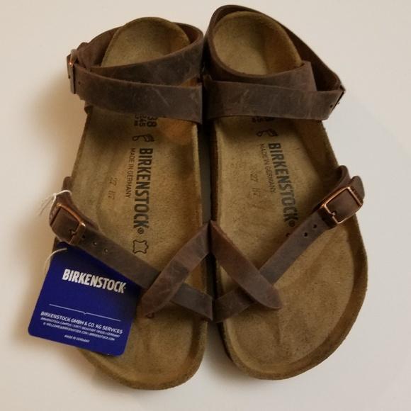 2d9fbe35f5a New Birkenstock Yara Habana Oiled Leather Sandals.  M 5b82518603087c7f8709600b